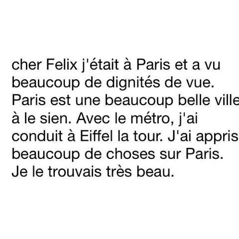 Auf an brief französisch freund schreiben einen Einen Brief