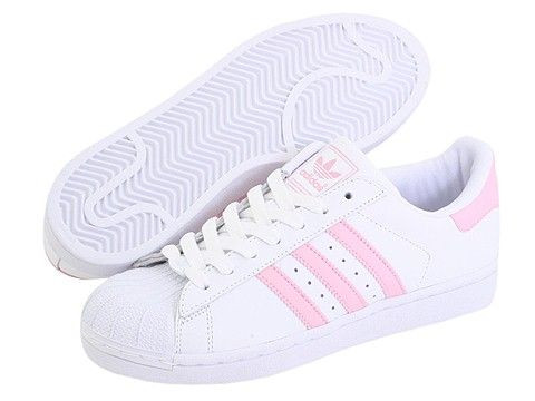 Adidas Superstar White/Light Pink - (adidas, Superstar)