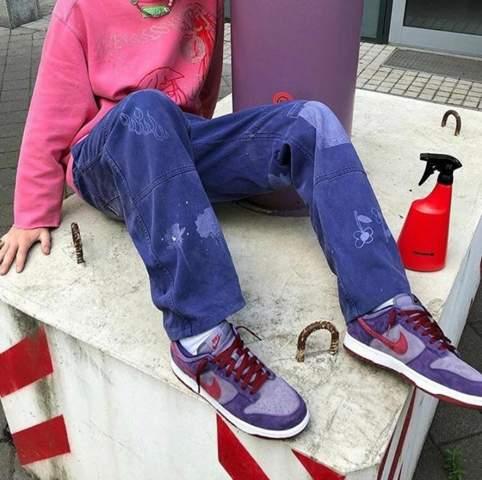 Ich suche nach einer lila Jeans (Vintage)?