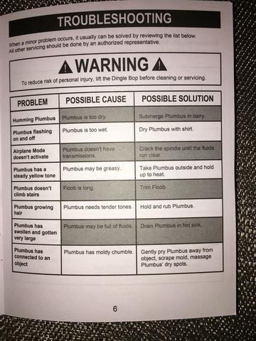 Seite 6 - (Bedienungsanleitung, abstand, Plumbus)