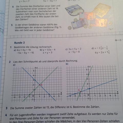 Nummer 2A und B - (Mathe, Mathematik, Hausaufgaben)