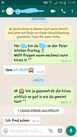 Screenshot des Chats - (Mädchen, Chat)