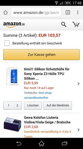 Amazon Bestellung Enthält Ein Geschen