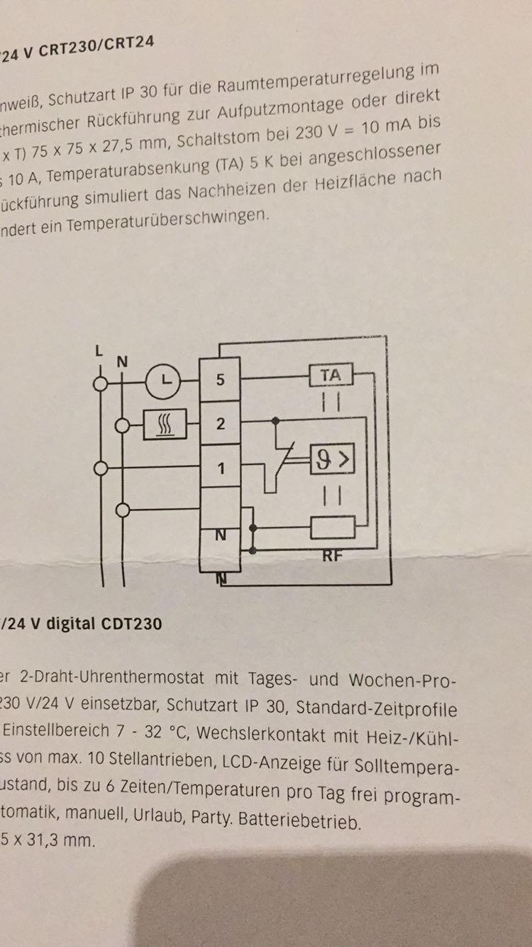 Charmant Austausch Des 3 Draht Thermostats Galerie - Der Schaltplan ...