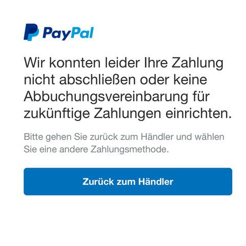 Paypal Lastschriftvereinbarung