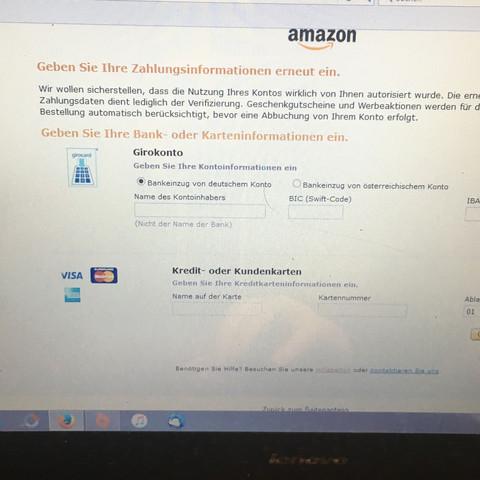 amazon kann nicht mit guthaben bezahlen