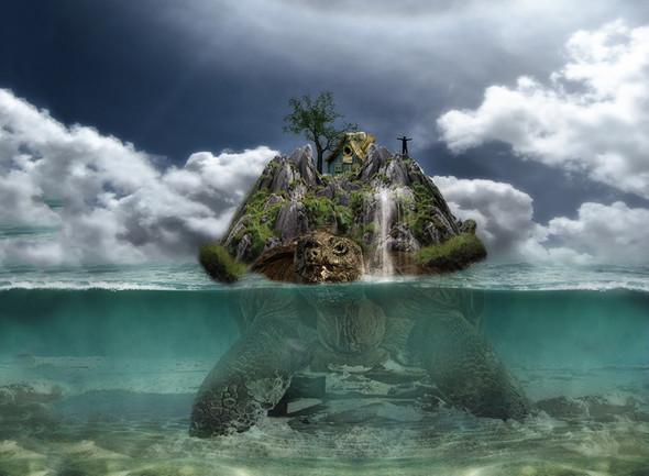 """""""Inselschildkröte"""" - (Schildkröten, Mythos)"""