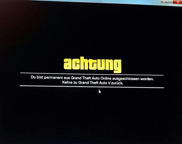 dauerhafter Bann - (Games, online, GTA 5)