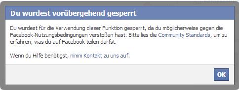 Ihr Konto ist vorübergehend gesperrt facebook, wie Sie entsperren
