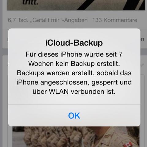 Bild icloud  iPhone WLAN  - (iPhone, Bilder, Backup)