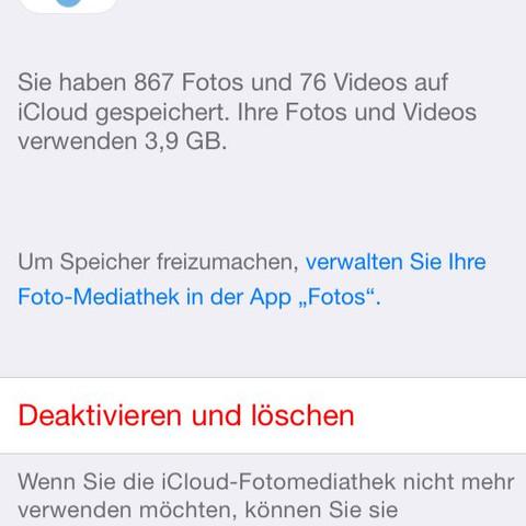 (ICloud speicher)  - (Handy, Technik, iPhone)