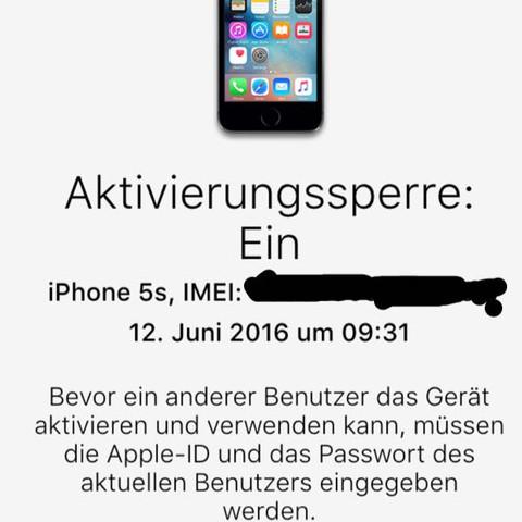 Bild  - (IPhone 5s, apple id, iCloud-Sperre)