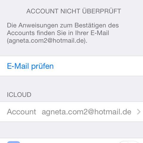 icloud account bestätigen wie? - (iPhone, Apple)