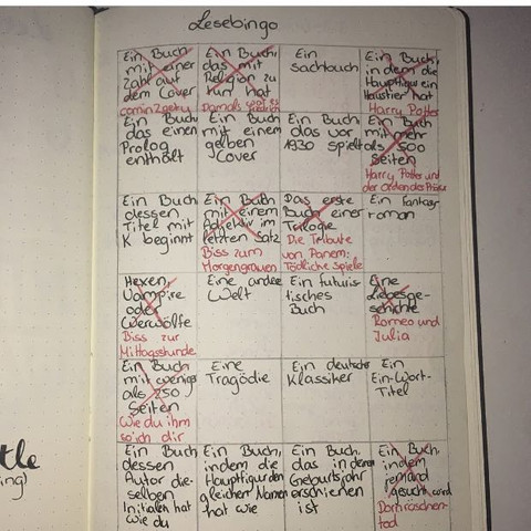 Bingo - (Notizbuch, Bullet Journal)