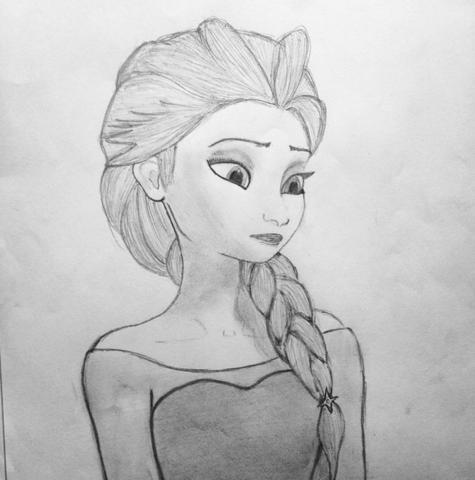 Elsa Frozen - (Manga, zeichnen, Zeichnung)