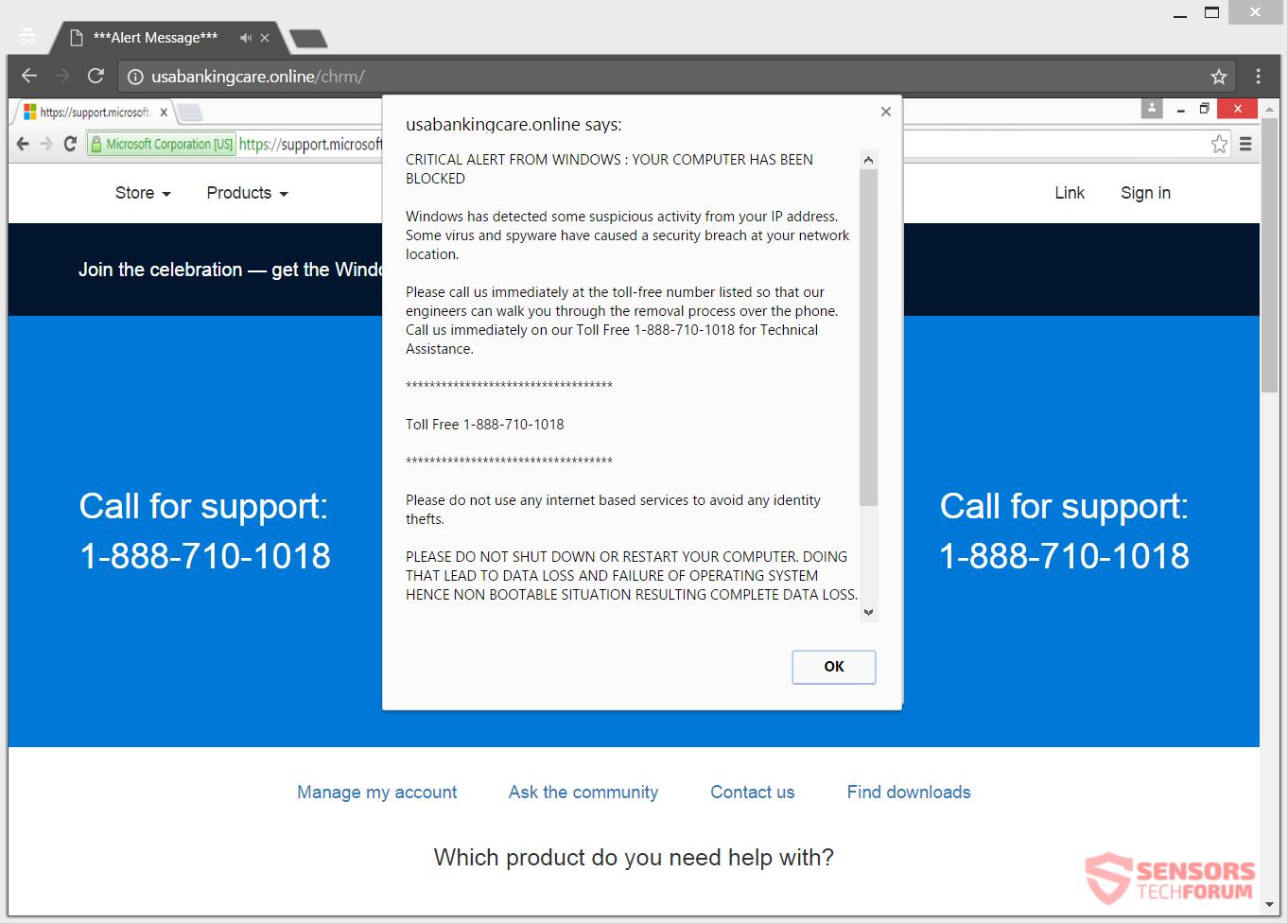 Microsoft Virus Meldung