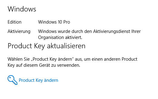 windows 10 product key ändern