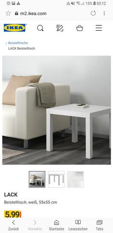 Ike Lack Beistelltisch 55x55 Gewicht Ikea Tisch