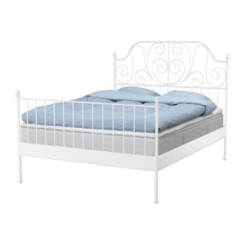 Bett weiß metall ikea  IKEA -Betten. (Schlaf, Bett)