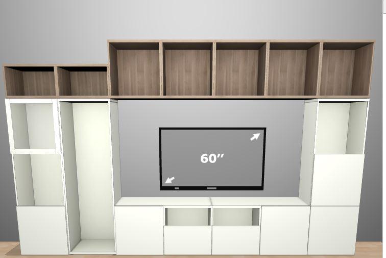 IKEA Besta Komponenten über 7x60cm schwebend aufgesetzt möglich ...