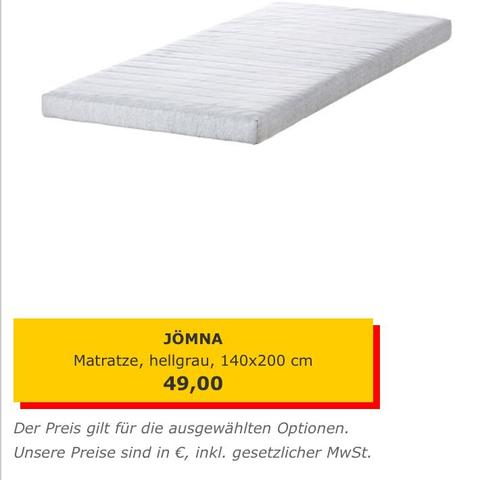 Bonnell federkernmatratze ikea  Ikea! JÖMNA (Bett, Matratze)