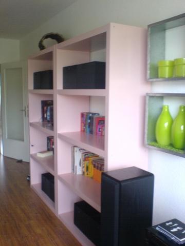 ikea lack regal anschleifen und lackieren von rosa zu nussbraun umlackieren bandschleifer. Black Bedroom Furniture Sets. Home Design Ideas