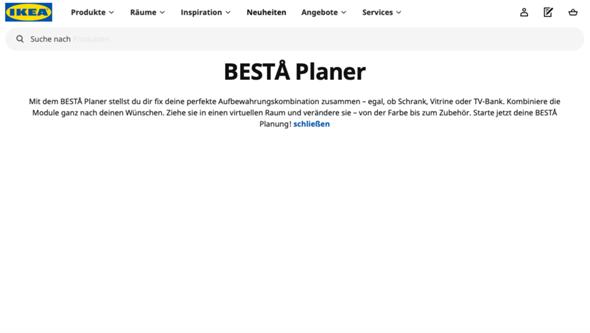 Ikea Raumplaner geht nicht?