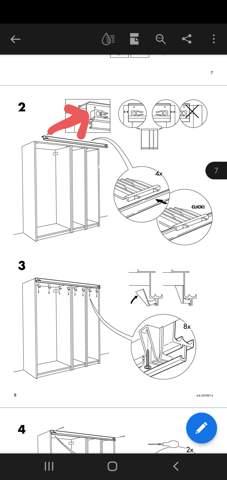 Ikea Teilenummer für Laufschiene Pax?