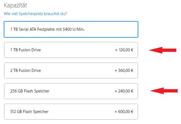 Screenshot der Konfiguration. Rote Pfeile --> Festplatte kommt infrage - (Computer, Apple, Mac)