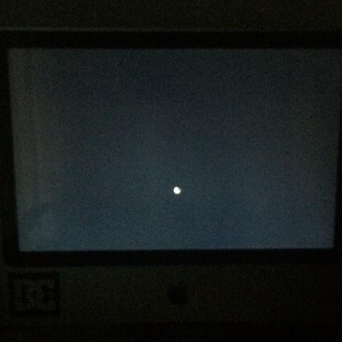 iMac schwarzer Bildschirm mit Ladesymbol (Computer, Apple, Software)
