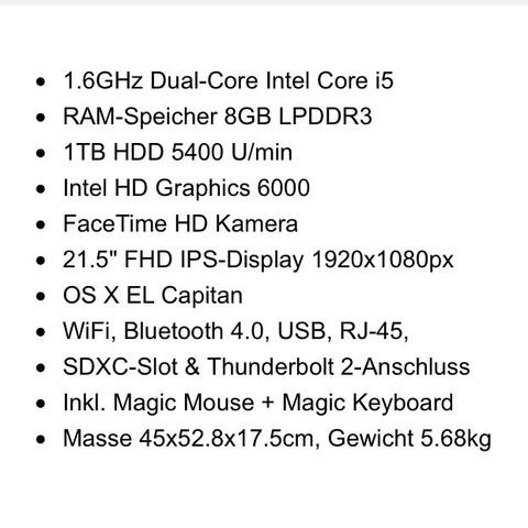 Das ist die Beschreibung des iMac's :D - (Minecraft, Apple, Mac)