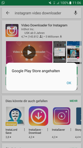 - (Handy, Play Store)
