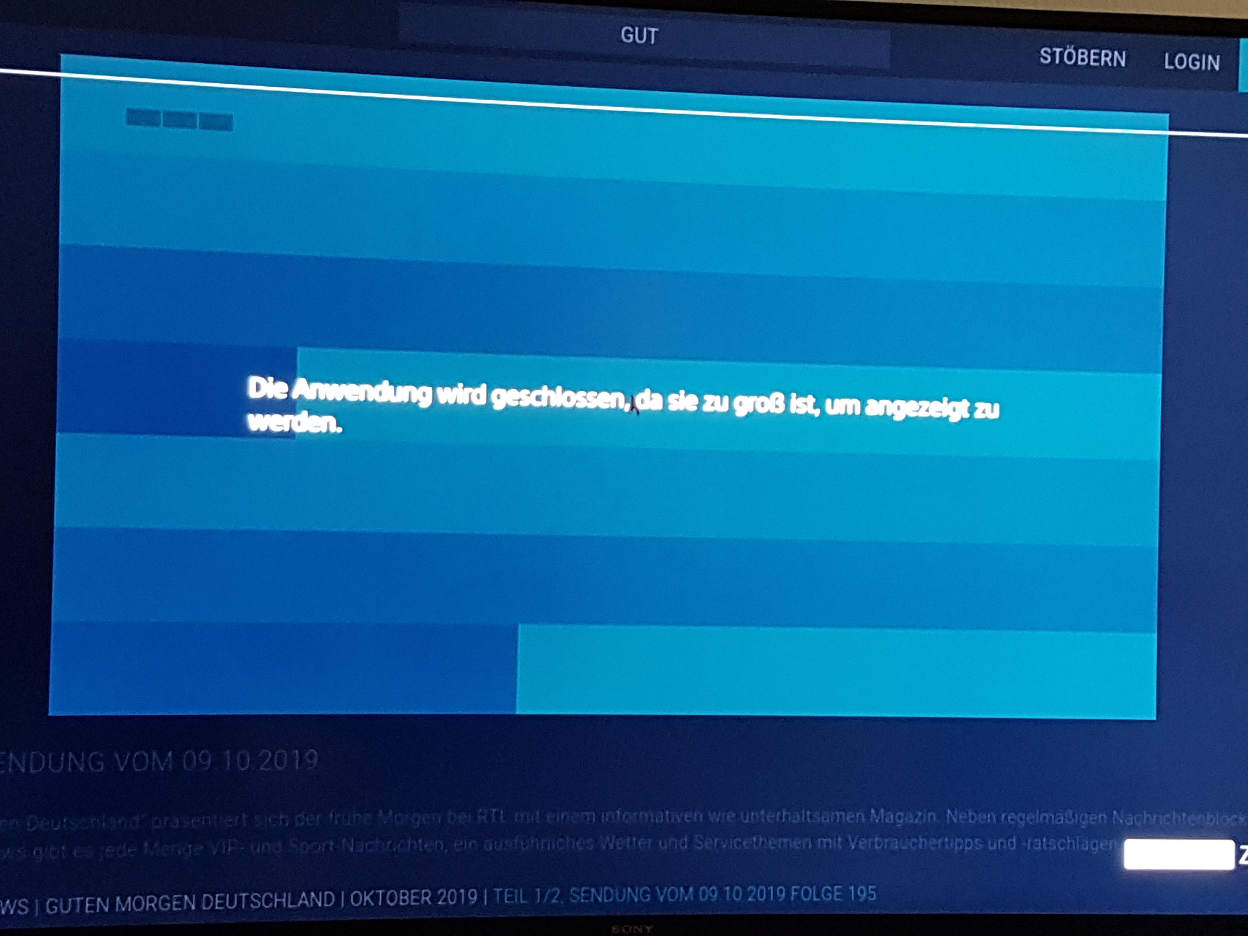 Immernoch Sony Bravia Und Tv Now Probleme