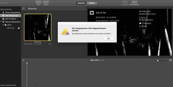 Problem - (iMovie)