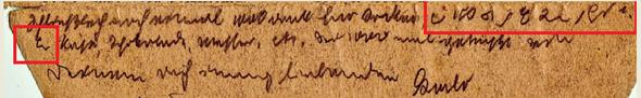 Brief mit Steno-Kürzeln - (Steno, altes Steno 1916)