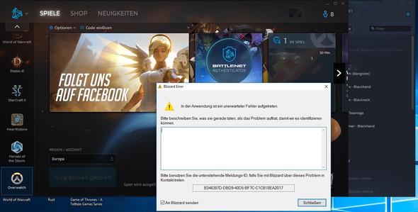 Fehlermeldung Screenshot - (Computer, Technik, Computerspiele)