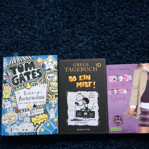 """""""Tom gates"""" , """"gregs tagebuch10"""" oder """"mädchen sind die besseren spione""""? - (Schule, Buch)"""