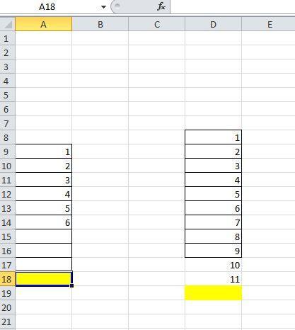 Excel erste freie Zelle aktivieren unter Berücksichtung von Formatierung Werte - (Excel, Visual Basic, makro)