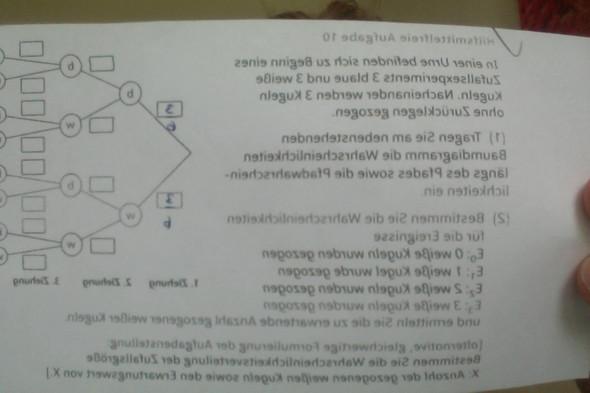 Aufgabe  - (Mathematik, Stochastik)