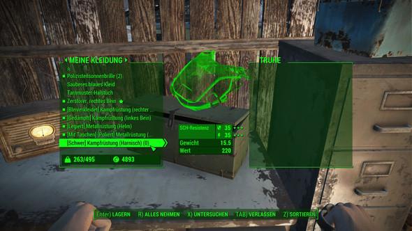 In Fallout4 item entfernen?
