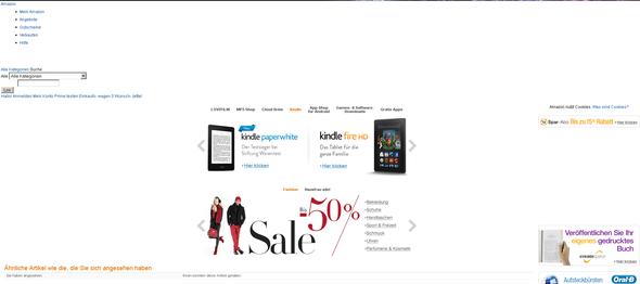 Amazon Bug - (Internet, Mozilla-Firefox)