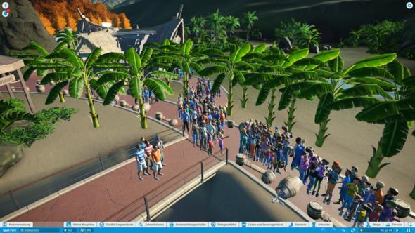 In Planet Coaster ist ein Bug der Simulation was tun?