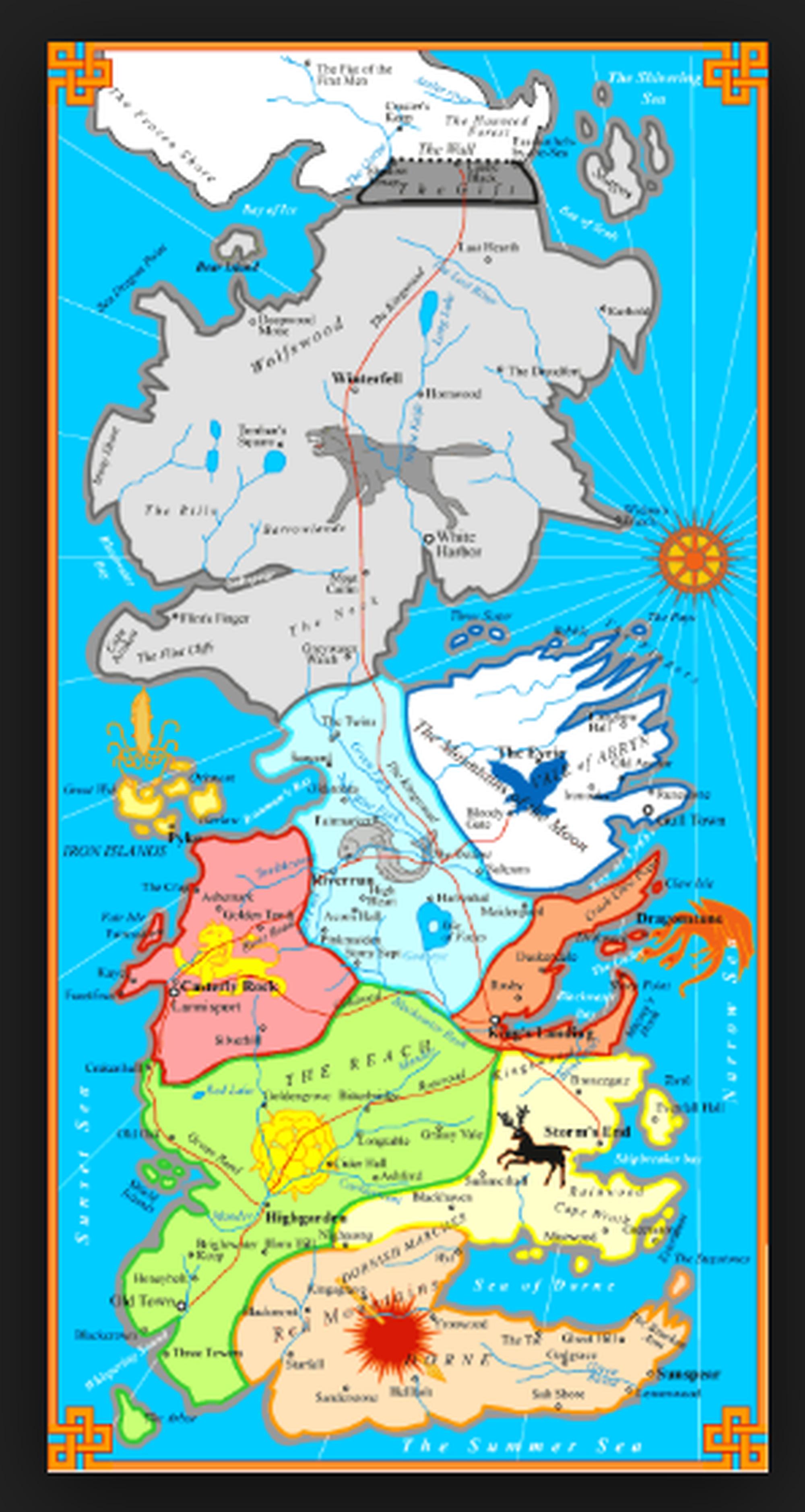 Landkarte Got