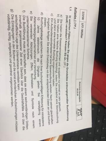 In welchen Fällen habe ich gegen die Grundsätze ordnungsgemäßer Buchführung (GoB) verstoßen?