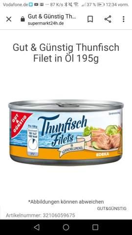 In welcher Abteilung steht Dosen thunfisch im Supermarkt und kann man den roh essen?