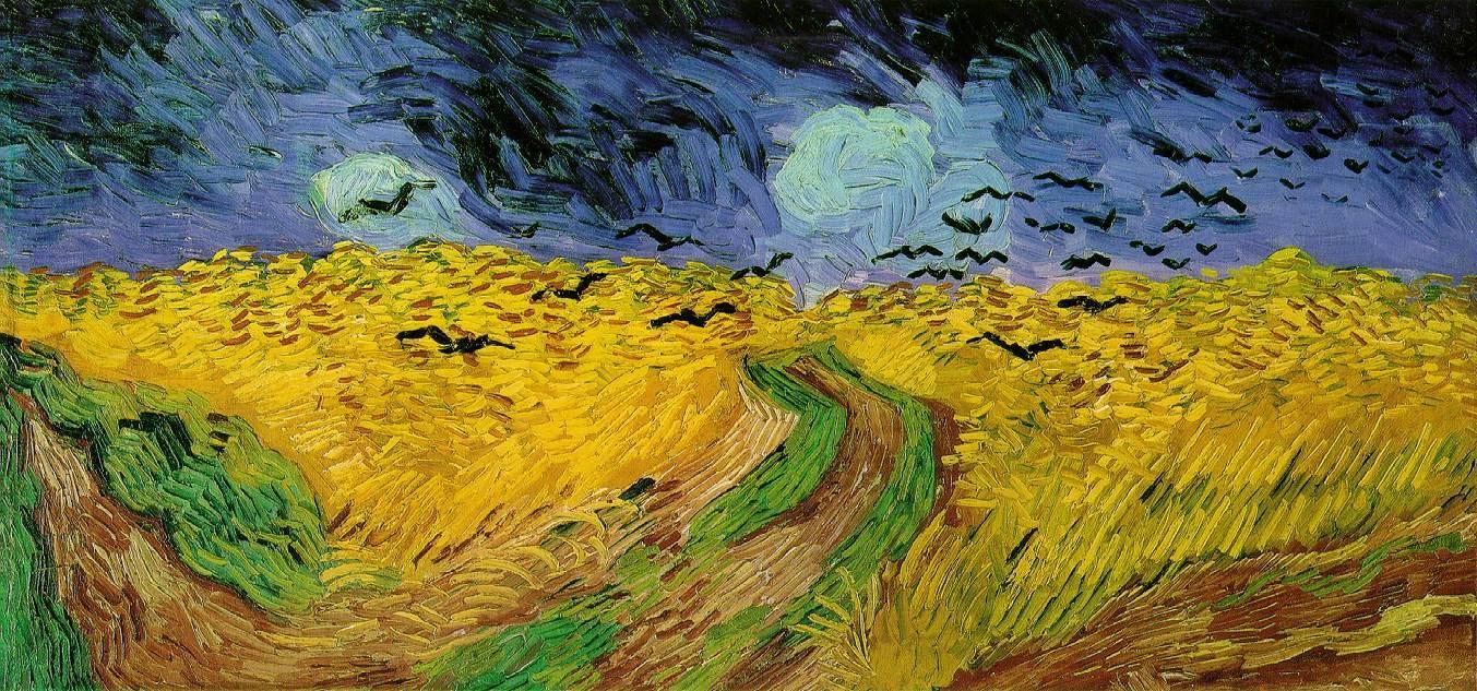 In Welcher Perspektive Wurde Das Bild Weizenfeld Mit Raben Von Vincent Von Gogh Gezeichnet Kunst Zeichnen Malen