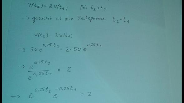 Afg. - (Mathematik, zeitspanne, Verdopplung der Rate)