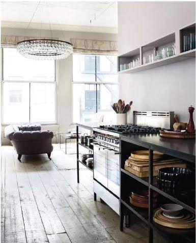 Wo kann man günstig küchen kaufen  Industrial Design: offene Kücheunterschränke aus Metall. Wo kann ...