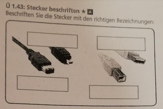 INFORMATIK; Wie heißen diese Stecker + richtige Bezeichnungen dafür?