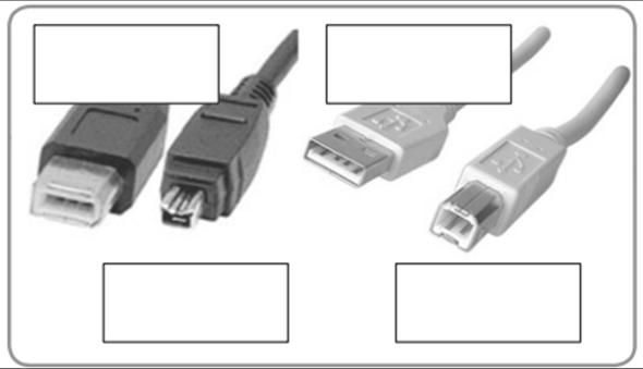 INFORMATIK; Wie nennt man diese 4 Stecker?